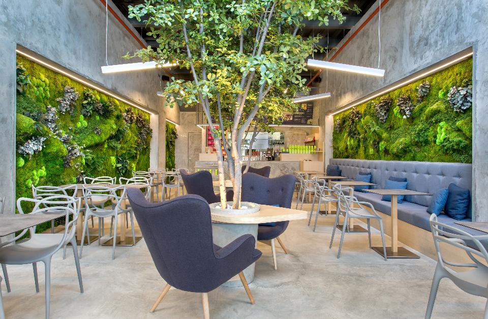 Jardines verticales Healthy food bar TBar Panamá