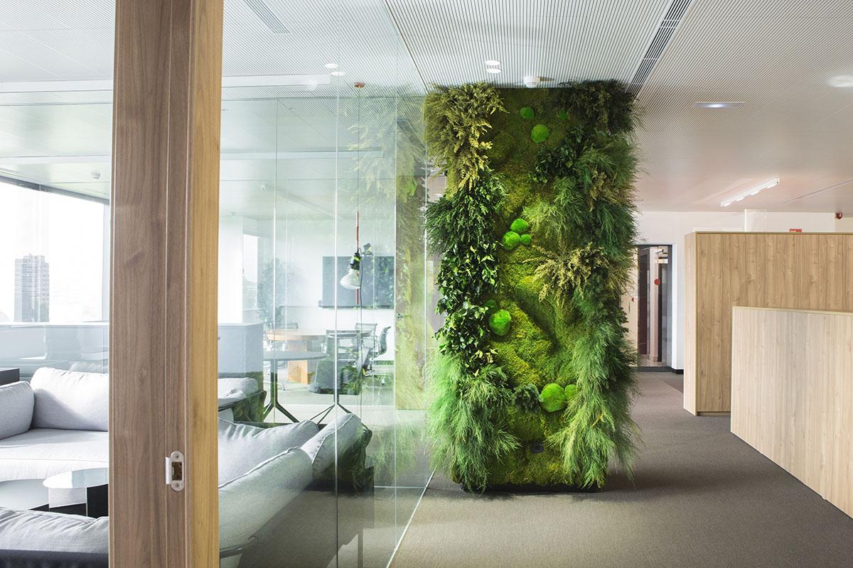 Indoor vertical garden cladding