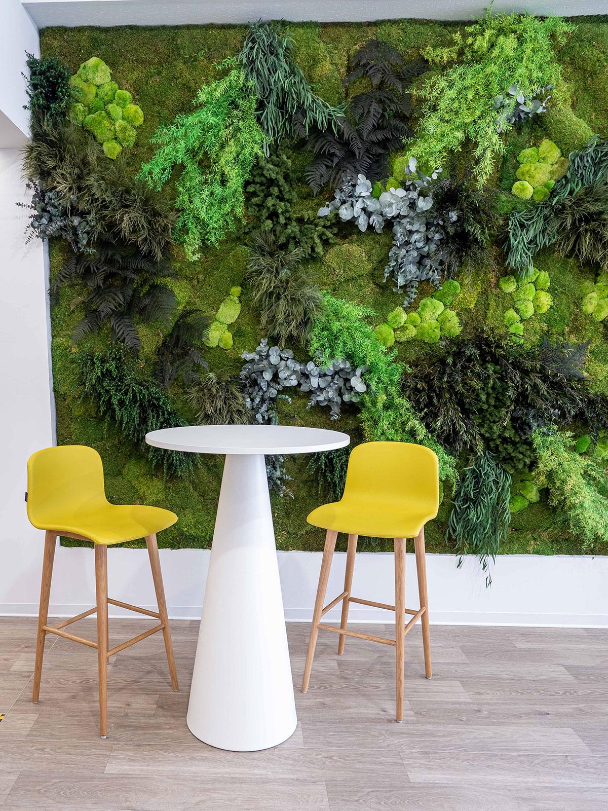 diseño jardines verticales en oficinas