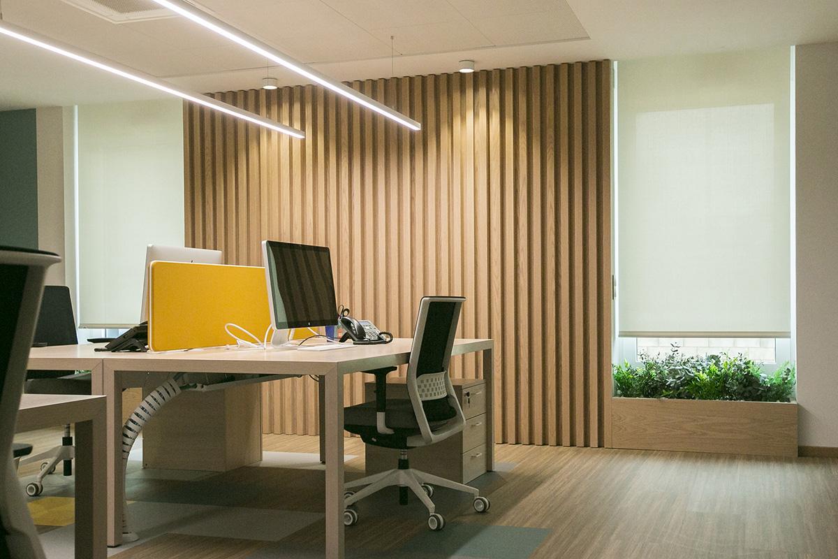 diseño biofílico en oficinas