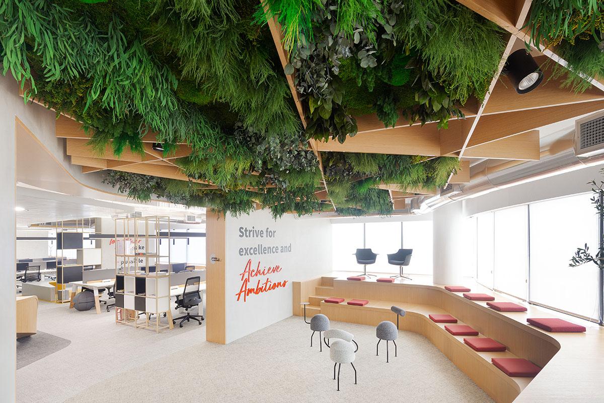 Techos verdes en oficinas incorporan beneficios de la naturaleza
