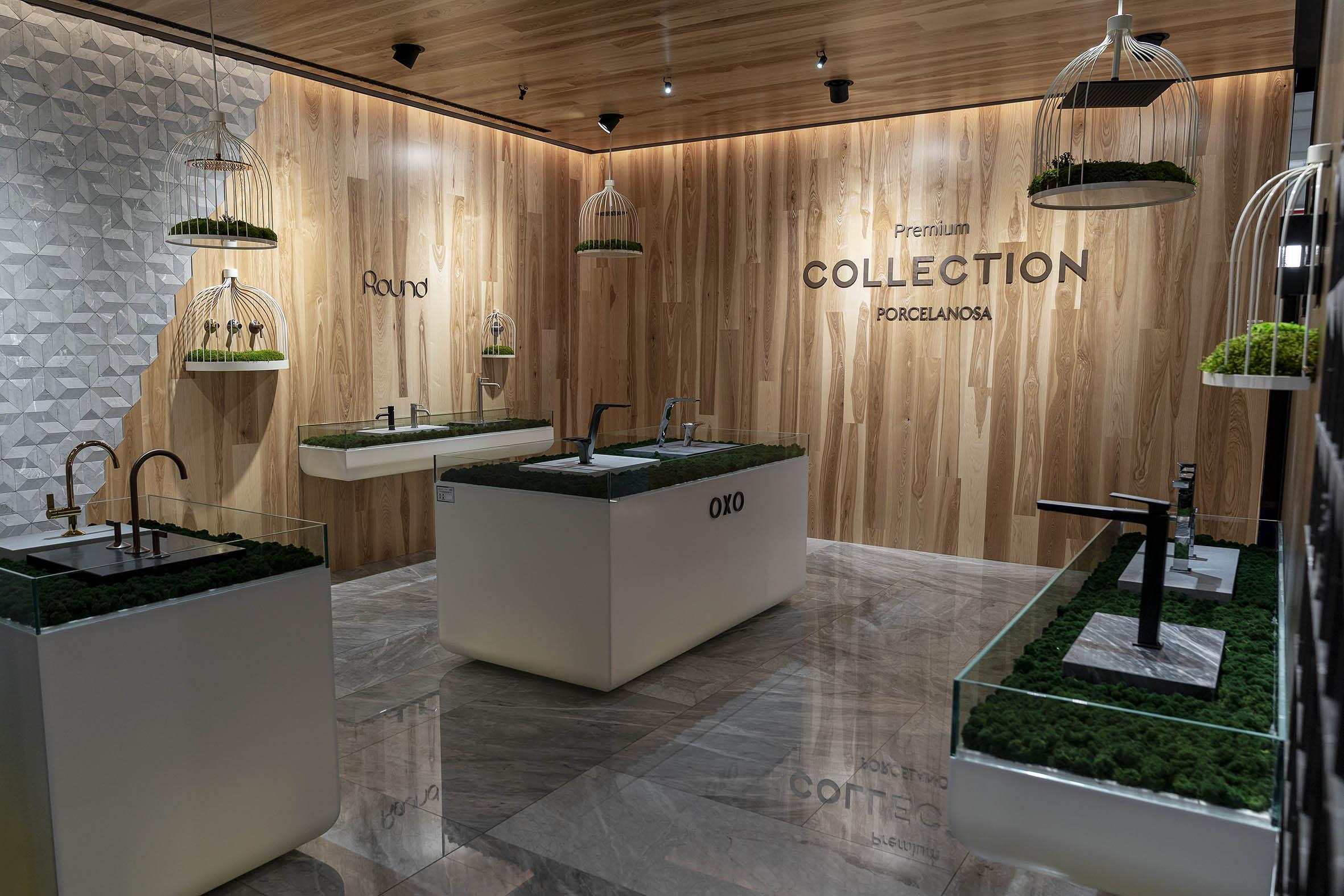 Stand Porcelanosa Group Cersaie decoración Greenarea