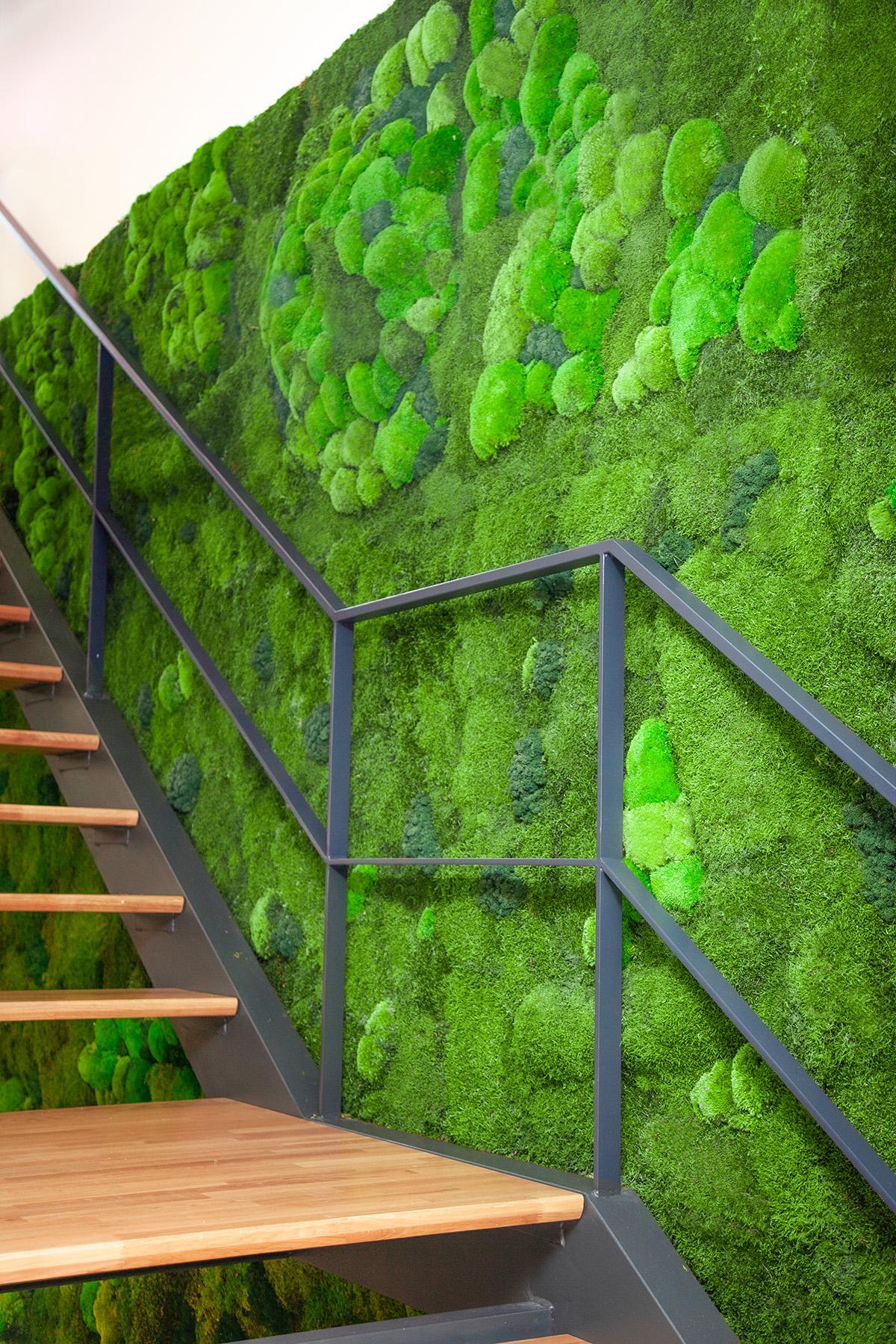 jardín vertical hueco escaleras