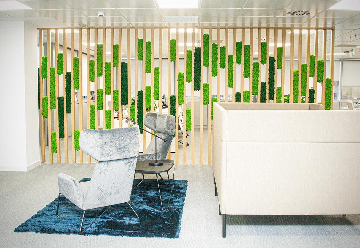 biofilia en oficinas decoración greenarea