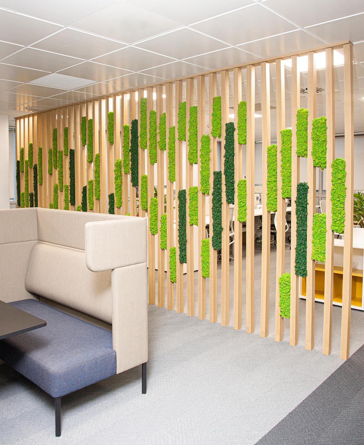 diseño biofílico oficinas liquen
