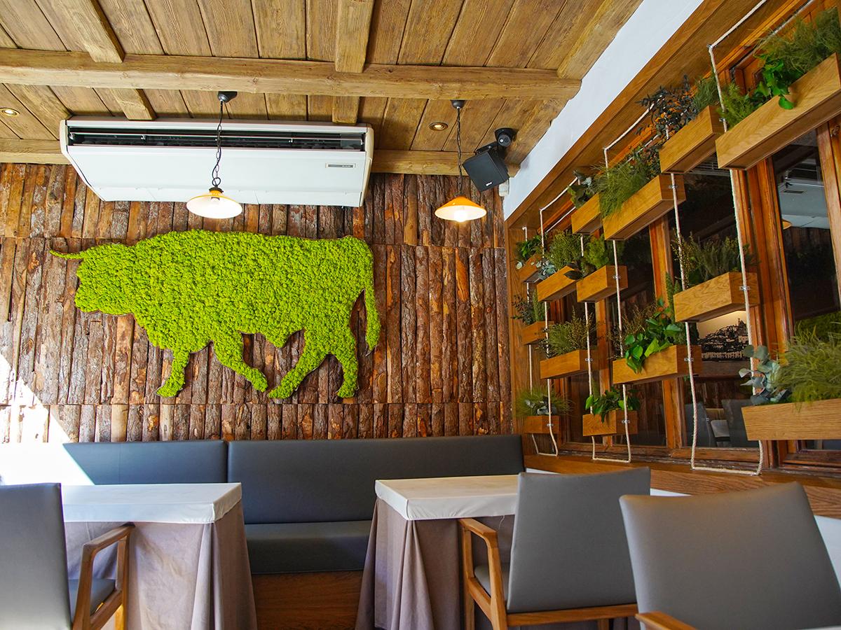 decoración vegetal para restaurante sin mantenimiento