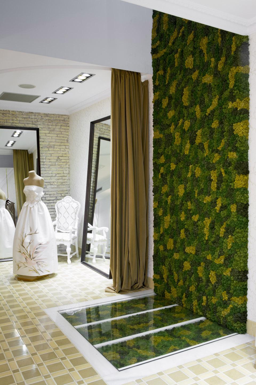 Mosswall liquen custom decoración atelier Higinio Mateu