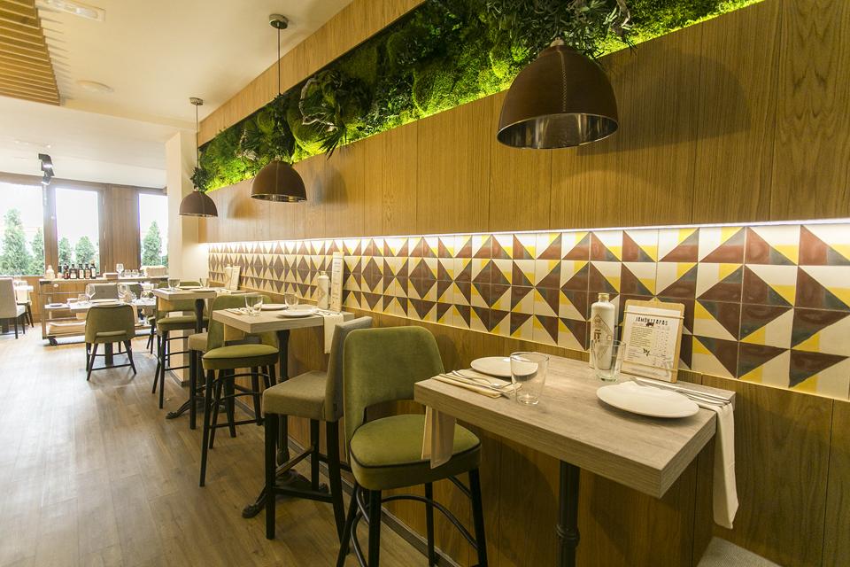 jardines verticales en restaurantes