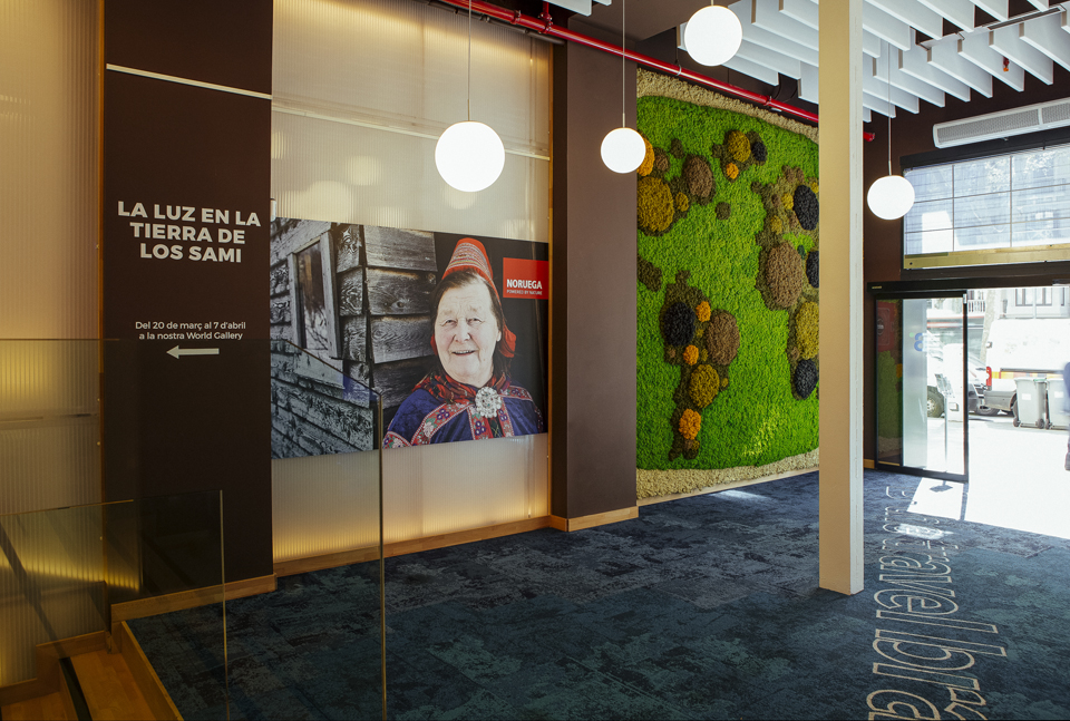 Decoración con jardín vertical flagship store