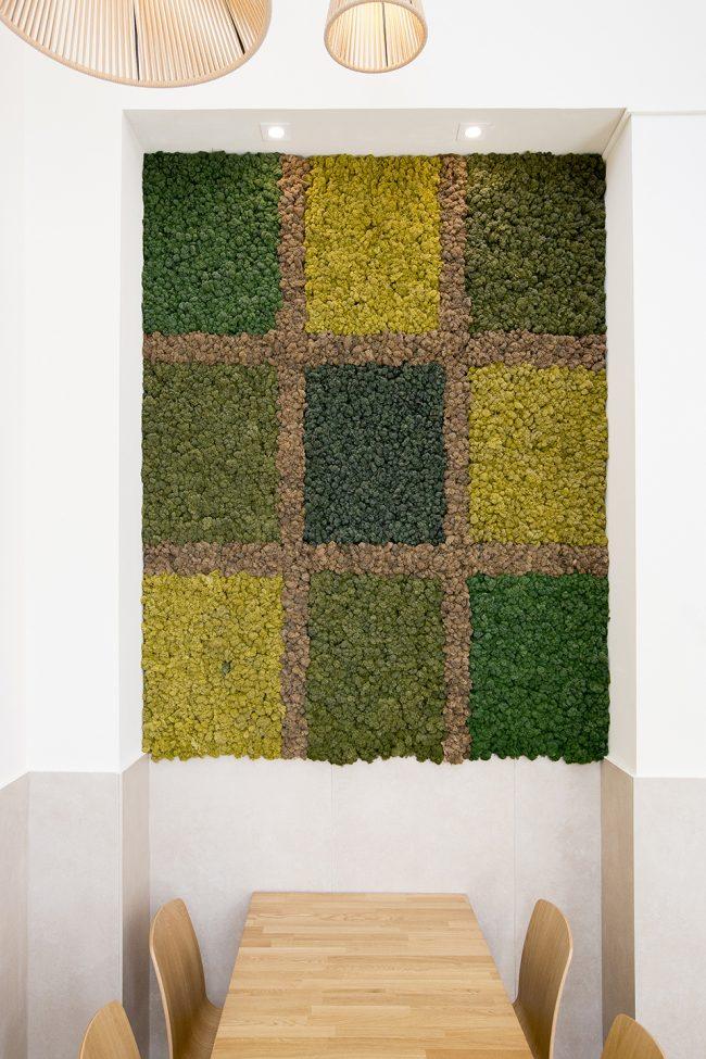 decoración-restaurante-cuadro-vegetal-liquen-preservado-mossdecor