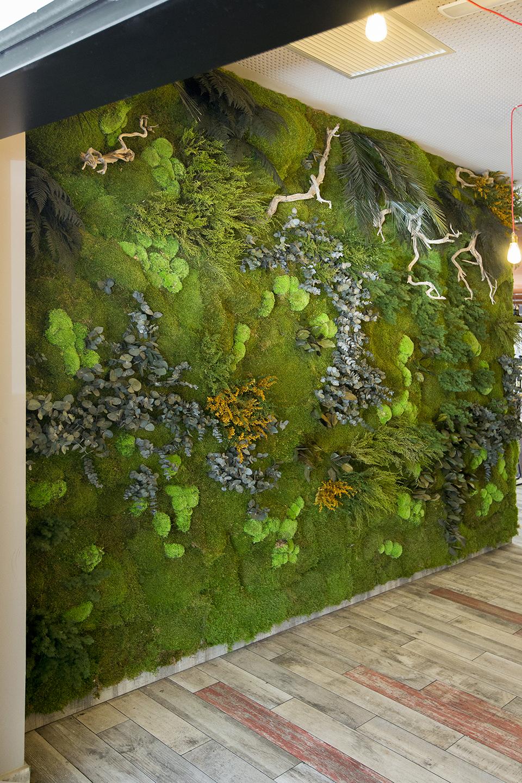 jardín vertical muro verde sin mantenimiento