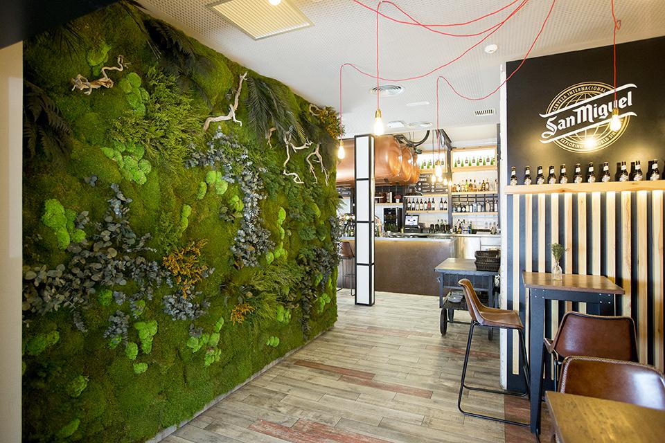 diseño jardines verticales restaurantes